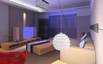 客厅背景墙装修图 家居的百变设计高清图片
