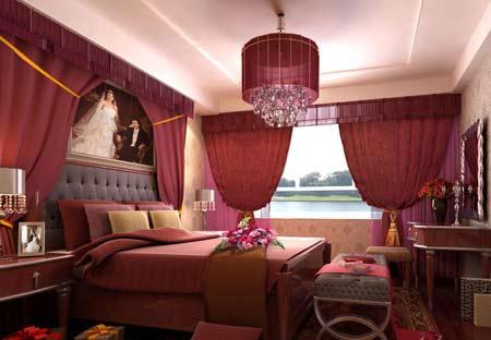 婚房卧室装修效果图:奢华的欧式古典风格卧室