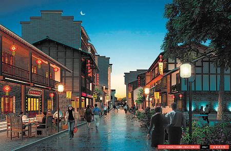 对历史文化街区进行整体性控制设计,依托滨江风光带,结合棚户区改造