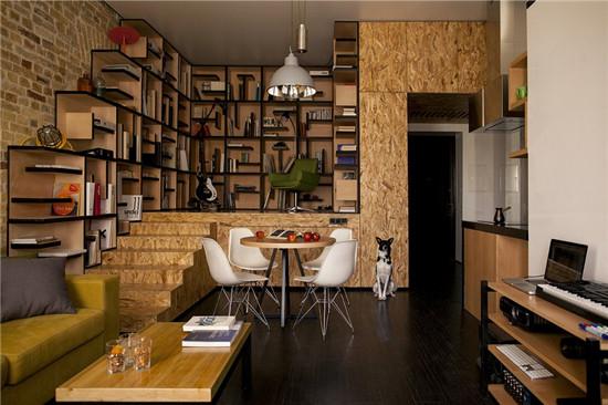 设计重点:   地台升高隔出书房   推荐理由:   如果书房与...