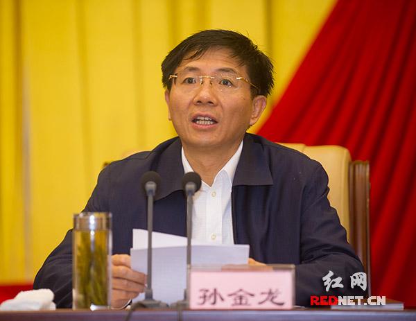 湖南省委副书记孙金龙主持会议