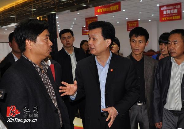 湖南省林业厅领导到新田调研林工企业发展工作(图1)