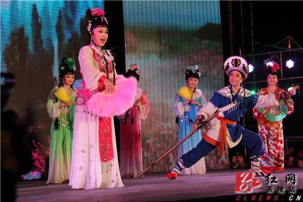 湖南花鼓戏文化科技扶贫下乡大型公益活动在茶陵启动