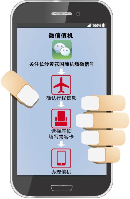 黄花机场:微信可选飞机座位