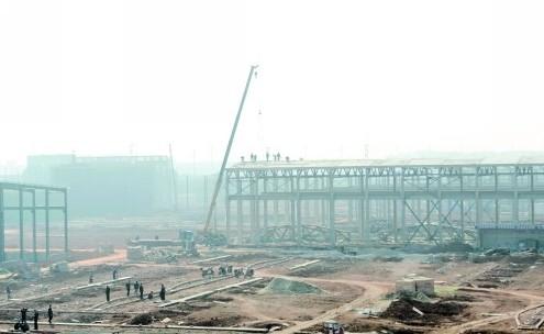 目前已基本完成厂房钢结构搭建及技术研发中心,检测验证中心等的主体