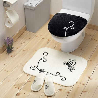 卫生间隔断图片欣赏14:可爱花纹-卫生间隔断图片 小空间变身大空间