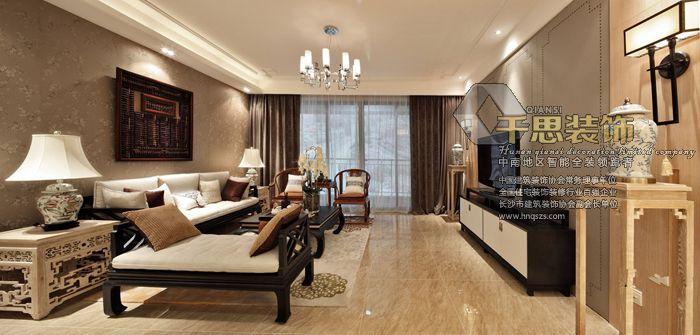 北辰三角洲现代中式风格装修卧室实景图