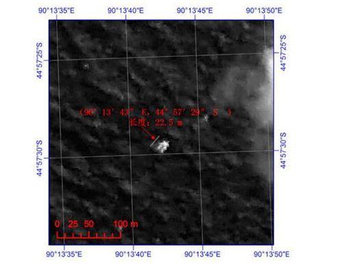 我国卫星发现长22米宽13米疑似漂浮物