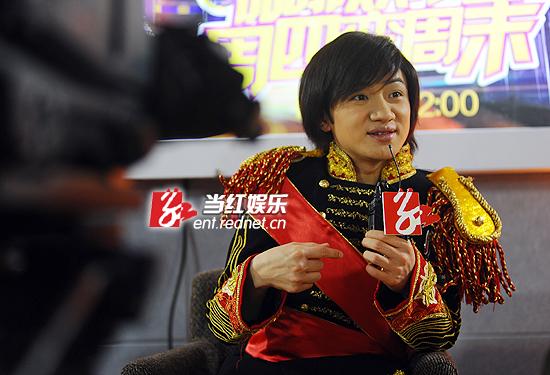 """王祖蓝应邀作客""""红人堂""""。"""