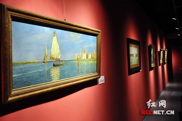 """""""意大利绘画珍品展"""",展览将意大利1850年至1950年间的百余件著名油画"""