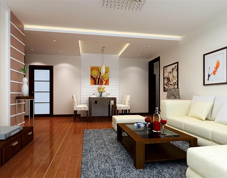 6.4万打造90平三室两厅 老房翻新成现代简约美家 高清图片