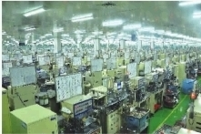 湖南艾华集团股份有限公司生产车间一角