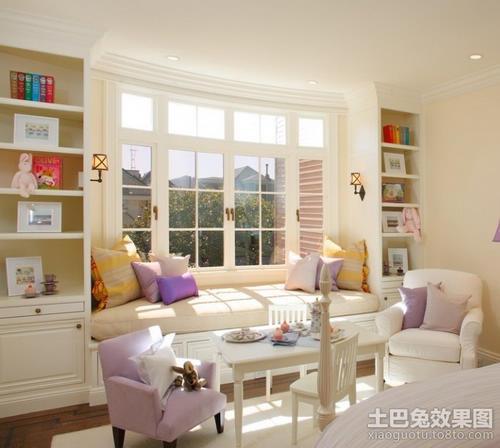 婚房飘窗装修效果图点评:欧式优雅飘窗设计