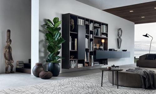书柜电视柜收纳柜 19款客厅整体柜设计