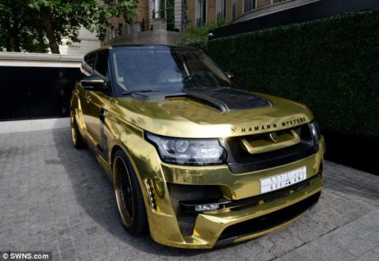 图为金色改装跑车.高清图片