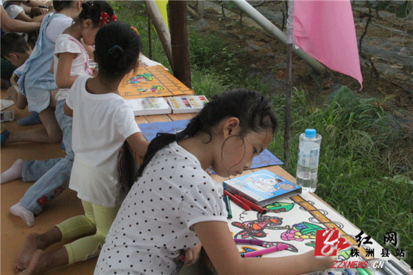 """这是株洲县第三季""""走进松西子体验新农村""""葡萄文化节之儿童葡萄绘画"""