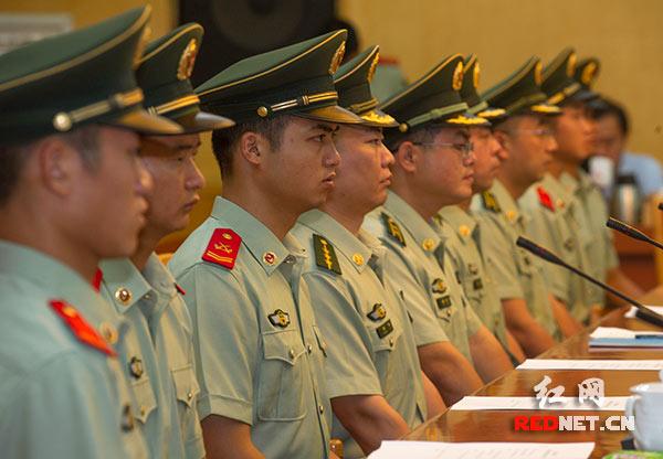 参加接见的长沙市望城区公安消防大队官兵代表。