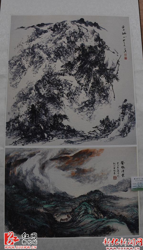 新化 名家书画为湖南省运添彩