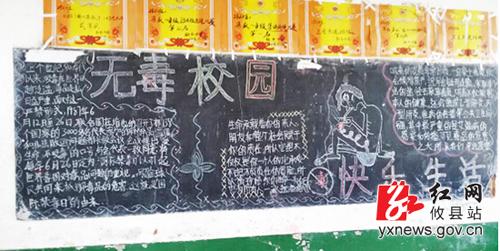 校园禁毒黑板报