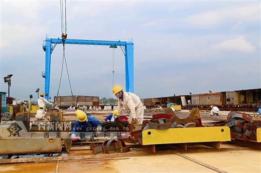 西江经济带基础设施大会战贵港项目推进如火如荼