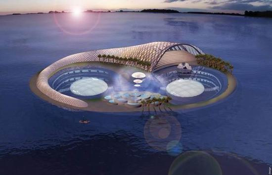 迪拜海底酒店位于水下60英尺