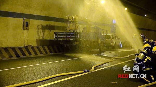 长湘高速狮子垄隧道演练应急救援