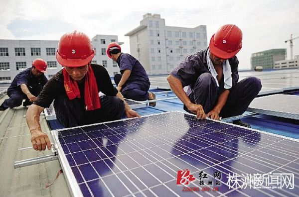光伏发电,不断为园区企业输送清洁电力(易翔 摄)