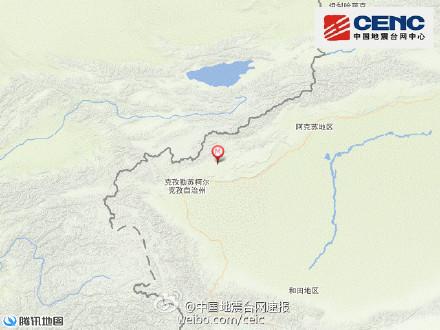 新疆阿图什市发生5.0级地震震源深度10千米(图)