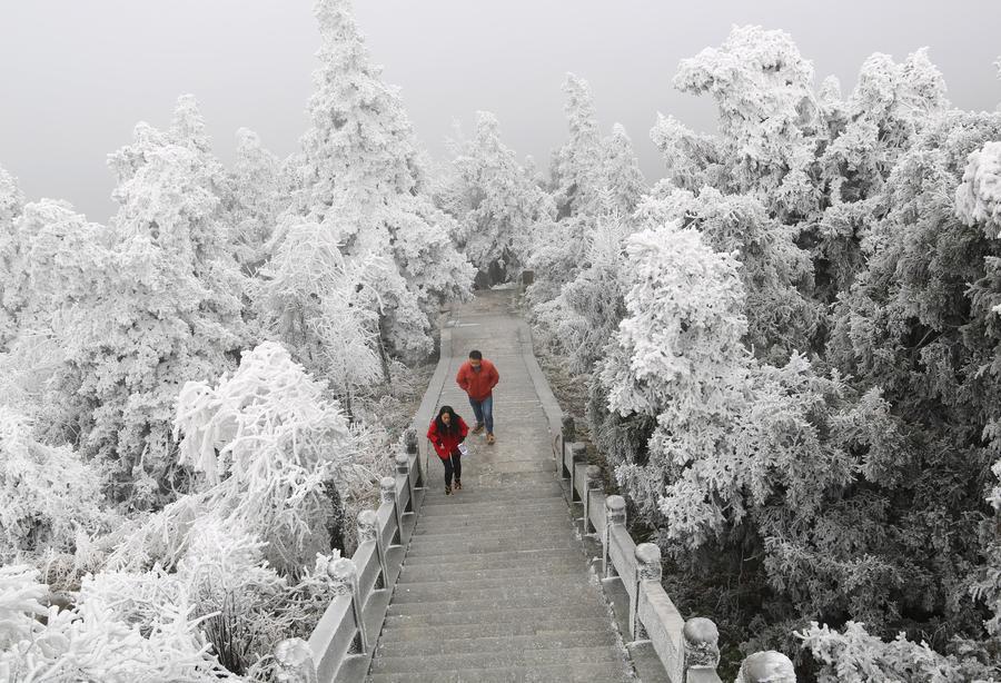 Winter scenery of Mount Heng