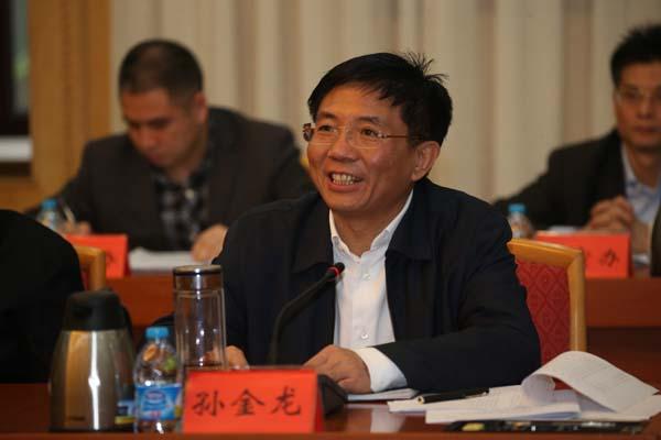 湖南省委副书记、省委网络安全和信息化领导小组副组长孙金龙讲话。
