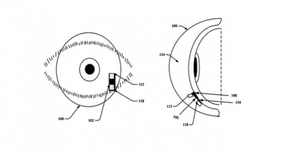 谷歌获得智能隐形眼镜专利 芯片可弯曲