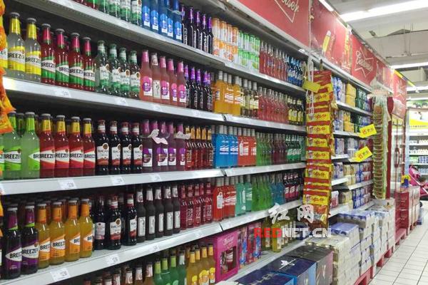 预调鸡尾酒在长沙各大超市占据醒目位置。