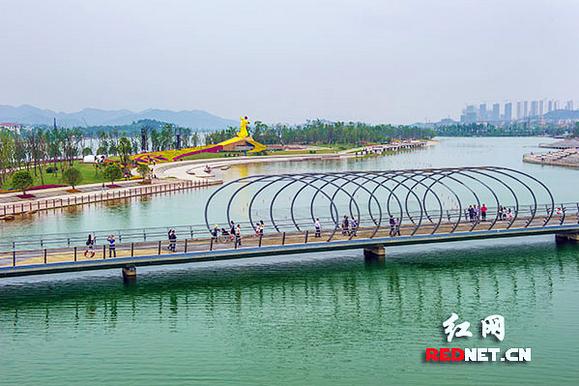 湘江新区梅溪湖风光。资料图
