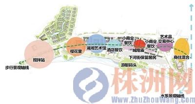 株洲 河东湘江风光带石峰公园段规划出炉