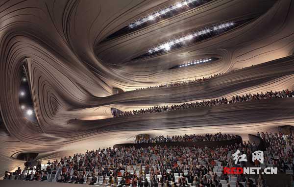 其中小剧场已完成钢结构封顶;大剧场屋面钢结构完成30%,计划9月底完成