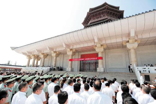 昨日上午,湖南抗日战争纪念馆开馆仪式在怀化芷江举行。