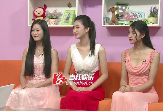 """""""世界小姐""""湖南赛区三强华服亮相。"""