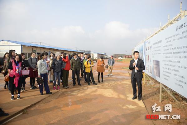 参观在建的格力长沙生产基地