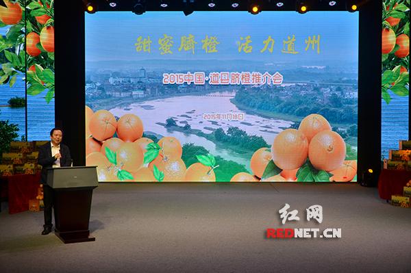 18日,2015中国•道州脐橙推介会在长沙举行。