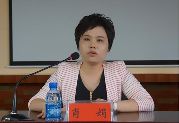 益阳市资阳区区委常委、宣传部长肖娟。