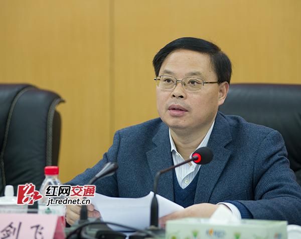 湖南省副省长张剑飞讲话。