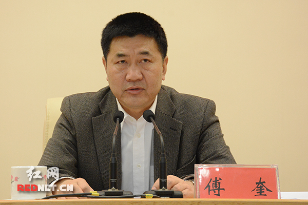 湖南省委常委、省纪委书记、省委巡视工作领导小组组长傅奎出席会议并作动员讲话。