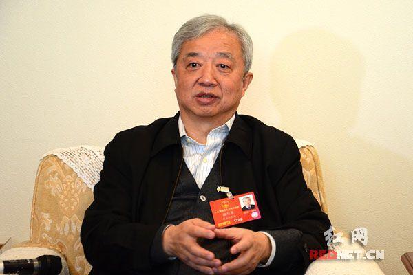 全国人大代表、湖南省经信委主任谢超英。