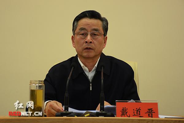 湖南副省长戴道晋主持会议。