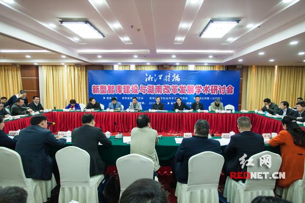 新型智库建设与湖南改革发展学术研讨会现场。