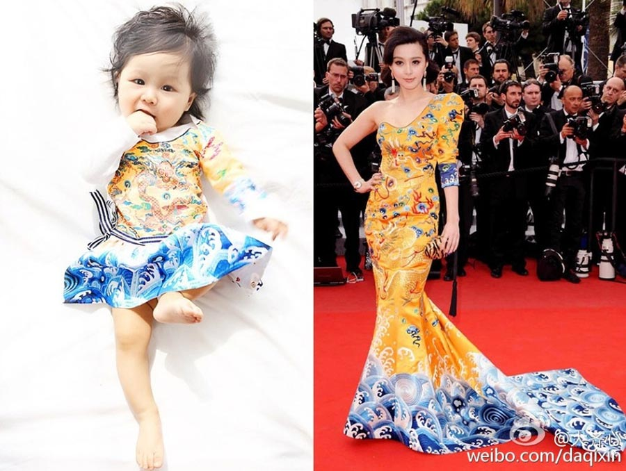 Baby dressed as Fan Bingbing goes viral online