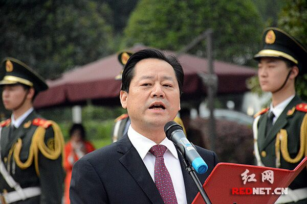 省政府副秘书长、长沙市委副书记、湖南湘江新区管委会主任虢正贵主持会议。