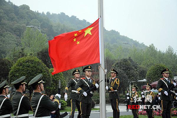 升国旗仪式。