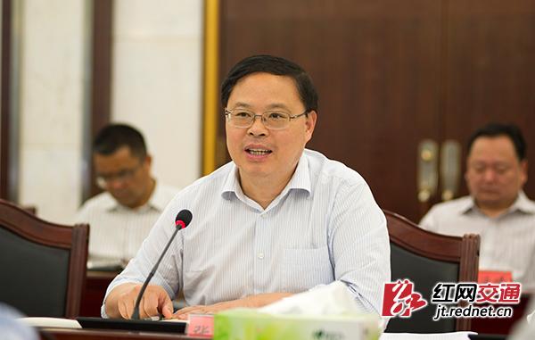 湖南省副省长张剑飞对交通运输部长期以来对湖南的支持和关心表示感谢。