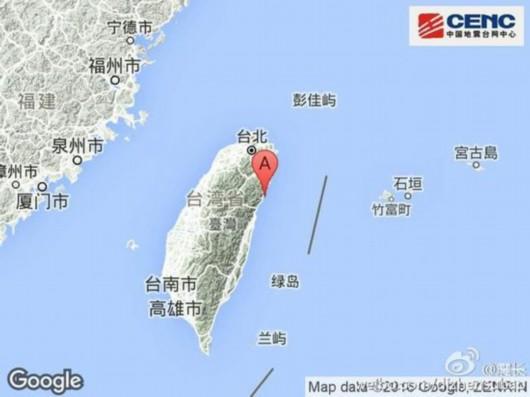 台湾附近6级地震